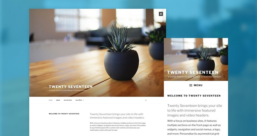 WordPress 4.7 Vaughan - New Twenty Seventeen theme. A-support.dk