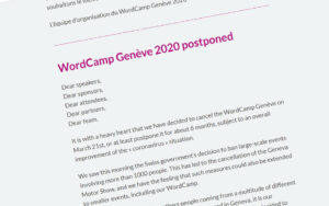 WordCamps are being canceled - a-support.dk