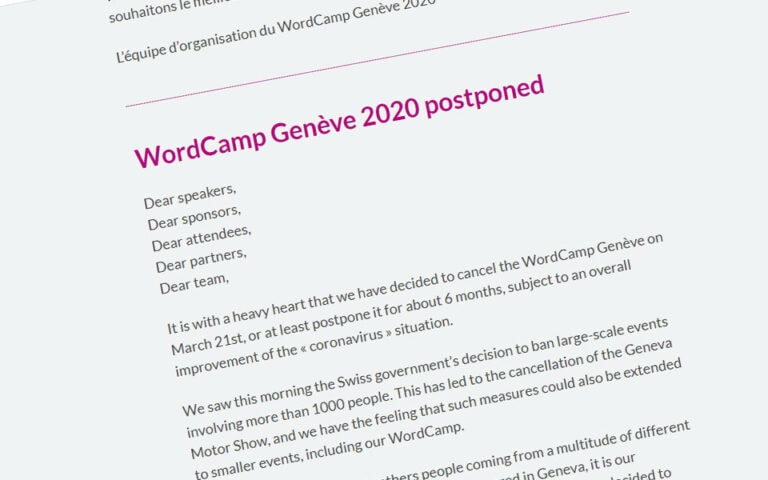 WordCamps are being canceled