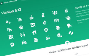 CoVid-19 icons from Font Awesome - a-support.dk