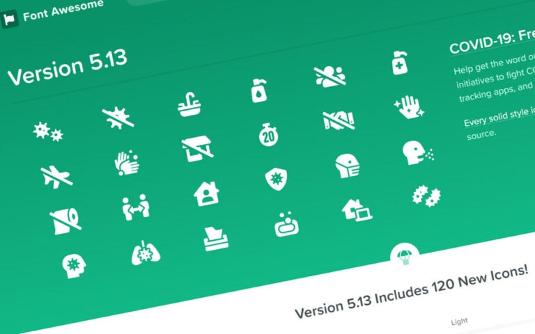 CoVid-19 icons from Font Awesome