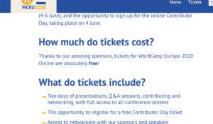 WordCamp Europe 2020 is going online