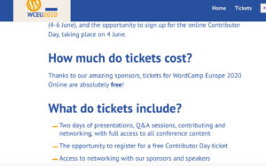 WordCamp Europe 2020 is going online - a-support.dk