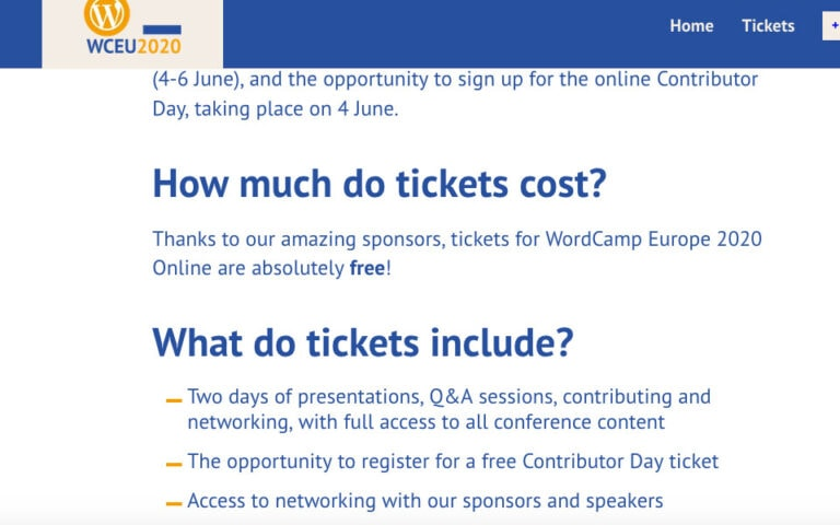 WordCamp Europe 2020 goes online