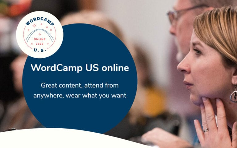 WordCamp US 2020 will be an online event